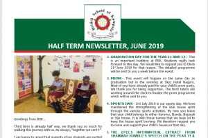 half term news letter secondary