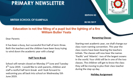 Primary Mid-term 3 Newsletter