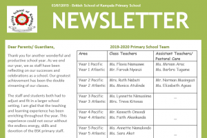 end of year primary newsletter