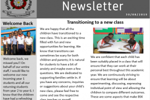 beginning of term news letter primary