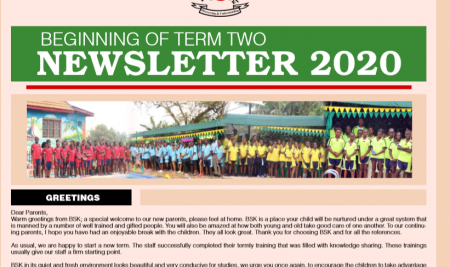 Secondary Beginning of Term 2 Newsletter