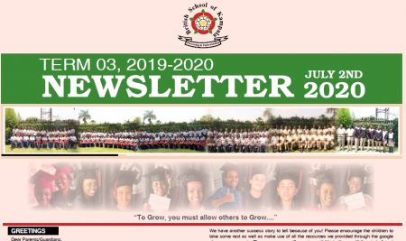 Secondary End of Term 3 Newsletter