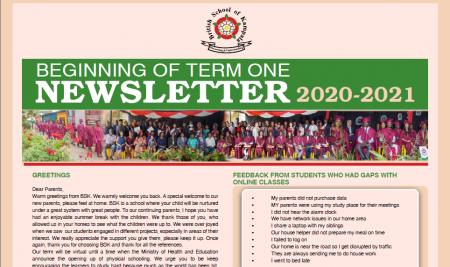 Secondary Beginning of Term 1 Newsletter