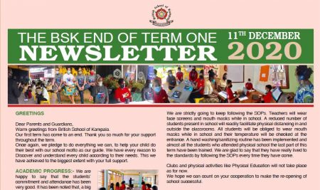 Secondary End of Term 1 Newsletter