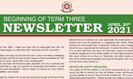 Secondary Beginning of Term 3 Newsletter
